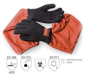 JokaHold 35 Granulated glove with attached sleeve