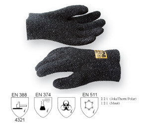 JokaHold Glove, Granulated, Black, 25 cm long