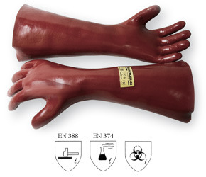JokaTPO 45, Mitten, 35 cm long, Reddish Brown