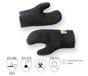 JokaTop Mitten, Granulated, Black, 25 cm